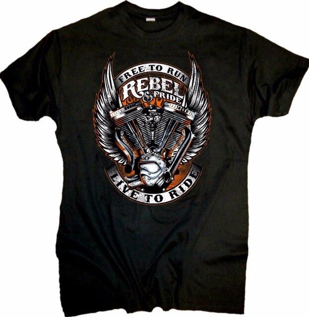2019 de moda de manga corta negro camiseta Casual ropa de hombre de estilo rebelde y orgullo helicóptero Bobber OldSchool V2 doble T camisa