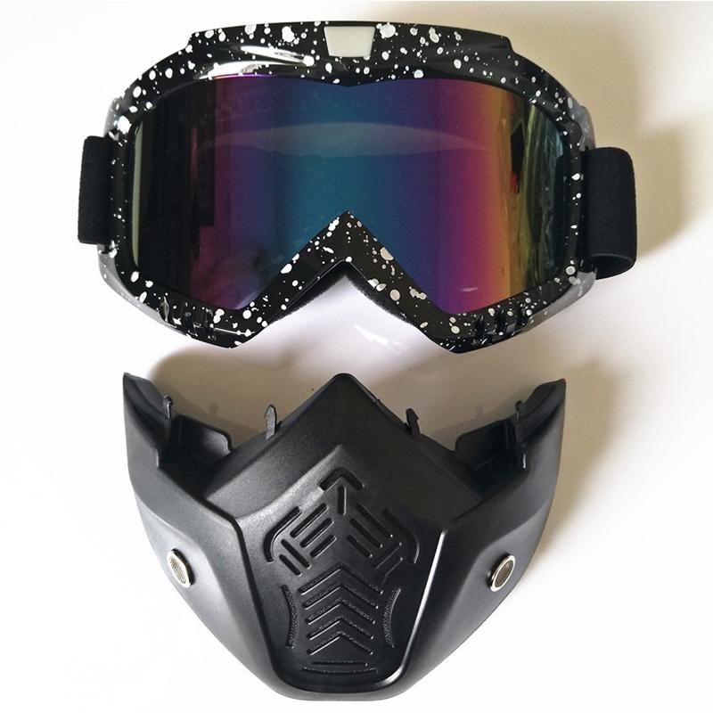 Mounchain New Ski Goggles Detachable Winter Snow Sports Snowboard Goggles Anti-fog UV Protection Men Women Youth Skiing Skating