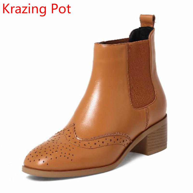 цены на 2018 New Arrival Superstar Cow Leather Chelsea Boots Slip on Thick Heels Keep Warm Fashion Sexy Oxford Ankle Boots for Women L36 в интернет-магазинах