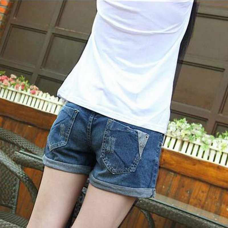 יולדות בהריון נשים מכנסיים קיץ בגדי הריון ג 'ינס אופנה בהריון אישה אלסטי סקיני בטן