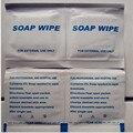 Высокое качество мыла влажные салфетки/мыло чистящие салфетки для дома, путешествий использования/аптечка первой помощи содержание Свободного доставка 100 шт./лот