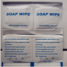 High quality soap wet wipes/soap cleaning towelette for home,travel use /first aid kit contents Free shipping 100pcs/lot