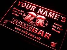 Custom Home Bar LED / Neon Sign (5 sizes, 7 colors)