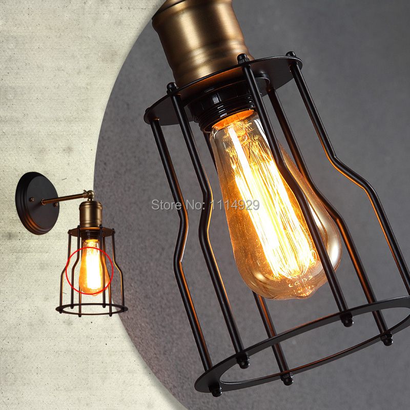 Ձեղնահարկ Vintage պատի լամպ Ամերիկյան - Ներքին լուսավորություն - Լուսանկար 4