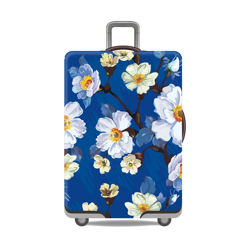 plum-flower-travel-luggage-cover-chinese-style-women's-trolley-suitcase-cover-travel-essential-elasticity-case-protect-dust-case