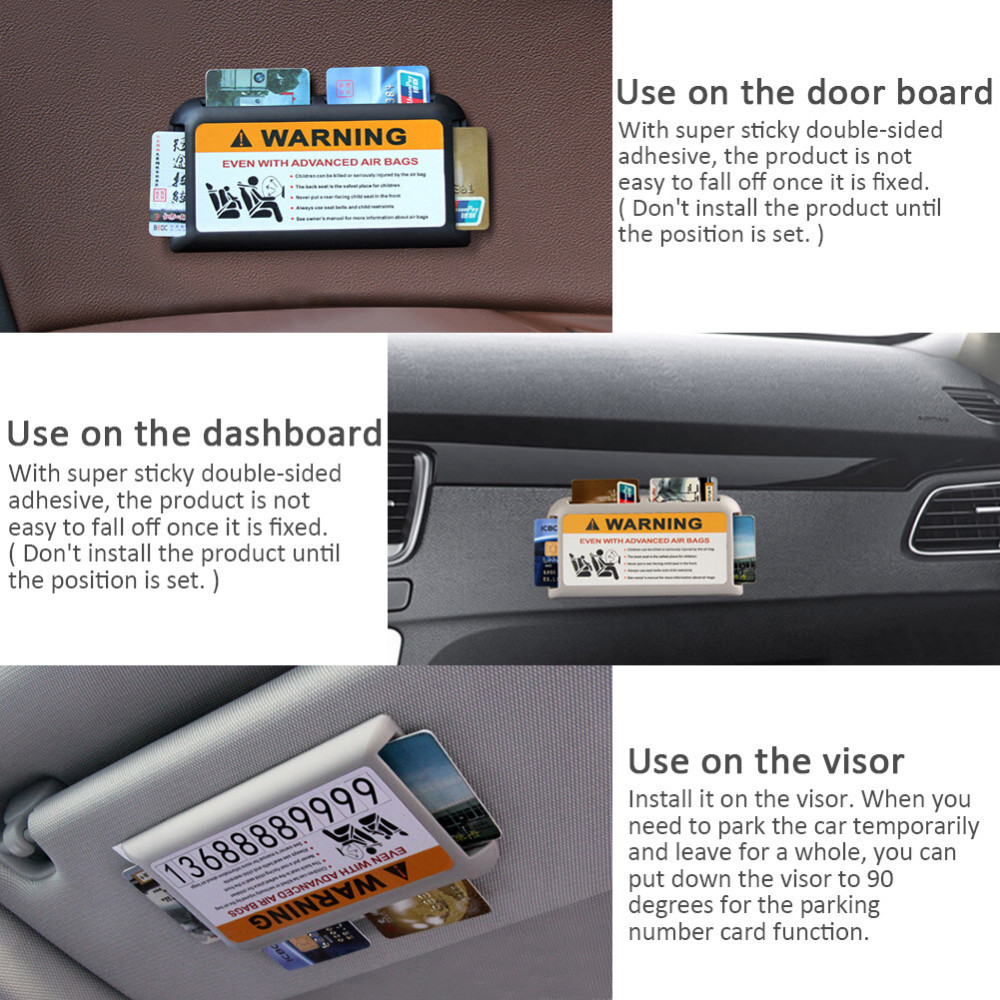 Car Visor Business Card Holder Storage Box Specialized Plug In Card ...