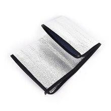 1 шт покрытые серебром складной стол для пикника пляжный матрац Водонепроницаемый Алюминий Фольга полиэтиленовая Циновка для кемпинга походный матрац подушка
