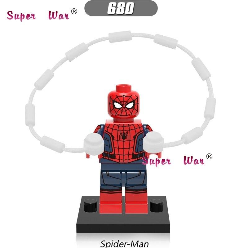 50pcs super heroes Marvel Spider Man Iron Man building blocks bricks friends hobby model kits toys