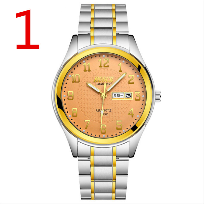 Authentic new watch simple men's watch fashion trend quartz watch casual steel belt waterproof watch swimming can bring wu s 2018 new leather belt watch men s casual waterproof simple watch machinery factory wholesale
