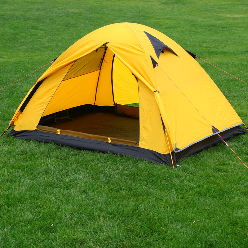 цена на Tents Outdoor Camping Waterproof Tents 2 Person Lightweight Tent Aluminum Rod Double Layer Tent