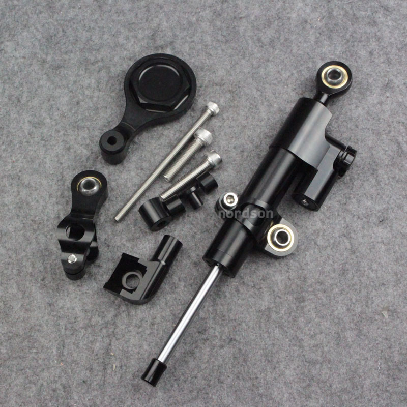 Full Set Motorcycle Steering Damper Stabilizer With Bracket For Yamaha YZF R1 2009-2012 R6 2006-2015 fxcnc aluminum motorcycle steering stabilizer damper mounting bracket support kit for yamaha fz1 fazer 2006 2015 2007 2008 09