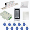IP68 Teclado Kit Sistema de Controle de Acesso com fonte de Alimentação DC12V Greve Elétrica Trava Exit Botão Campainha Controle de Cartão RFID
