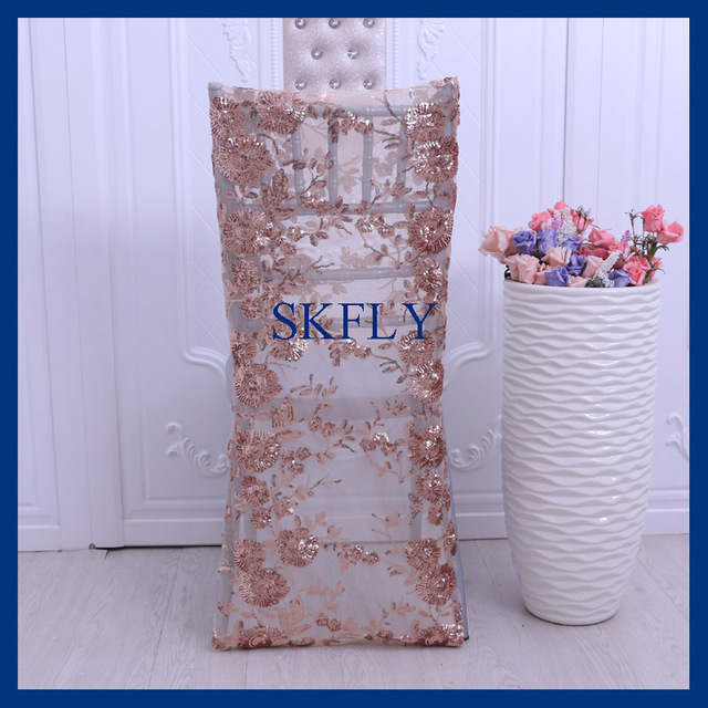 chair covers rose gold big comfortable chairs ch004m new 2017 wholesale cheap wedding beaded embroidery pattern sequin cover