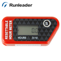Runleader Inductive Digital Hour Meter Dirt Bike Marine Boat Quad ATV Snowmobile