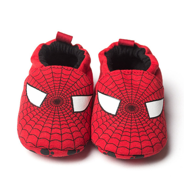 2016 New Spring Autumn Baby Shoes Branded First Walkers Infant Cotton Newborn Children Spiderman Shoes Soft Sole Minnie Shoes