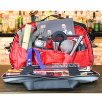 New Arrival Bartender Kit Leather Bag Wine Tool Set Combination Diagonal Toolkit Appliance Package Professional Bartender Kit