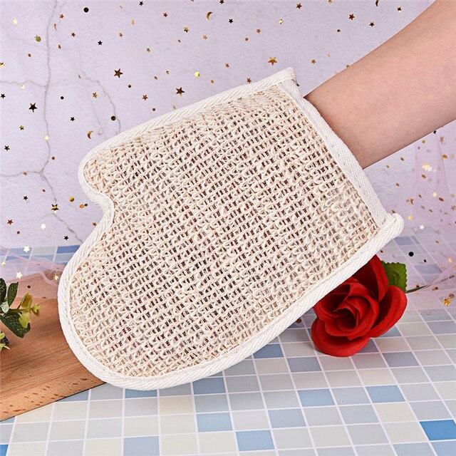 1pc Bath Hemp Shower Tubs Remove Bath Exfoliating Gloves Dirt Rubs Back Blood Bath Glove Bath Sauna Accessories hot sale