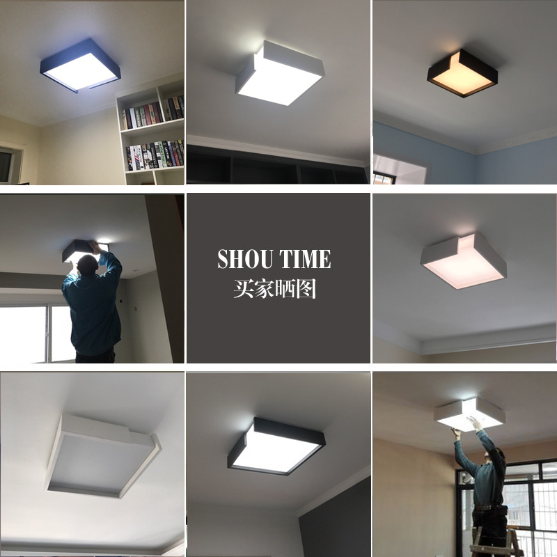 Ceiling Lights Hot Sale Modern Remote Control Surface Mounted Ceiling Lamp Square Led Panel White/black For Bathroom Lighting Ac110-240v Luminarias Para Ceiling Lights & Fans