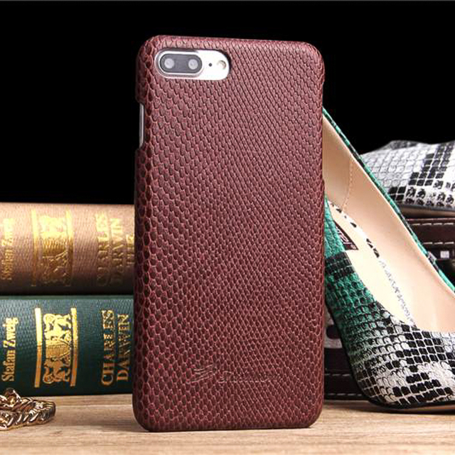 newest f6d9c c3e89 US $10.76 |For IPhone 7 Plus Case Luxury Shell PU Snakeskin Texture Leather  Back Cover for IPhone 7 Plus Free Shipping-in Half-wrapped Case from ...
