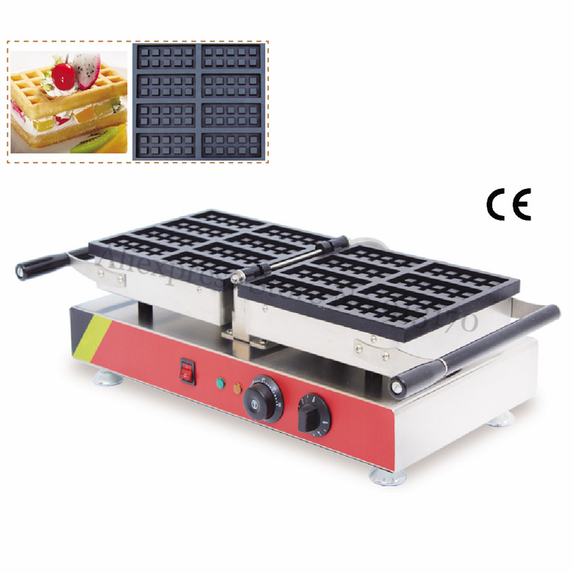 Rectangle Waffle Machine Electric Mini Waffle Maker 8pcs In One Tray Street Snack Fast Food Western Restaurant
