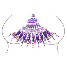 Adhesive Sticky Gems Sticker Makeup Face Boob Jewel Crystal Festival Party Stickers for Body Art Chest