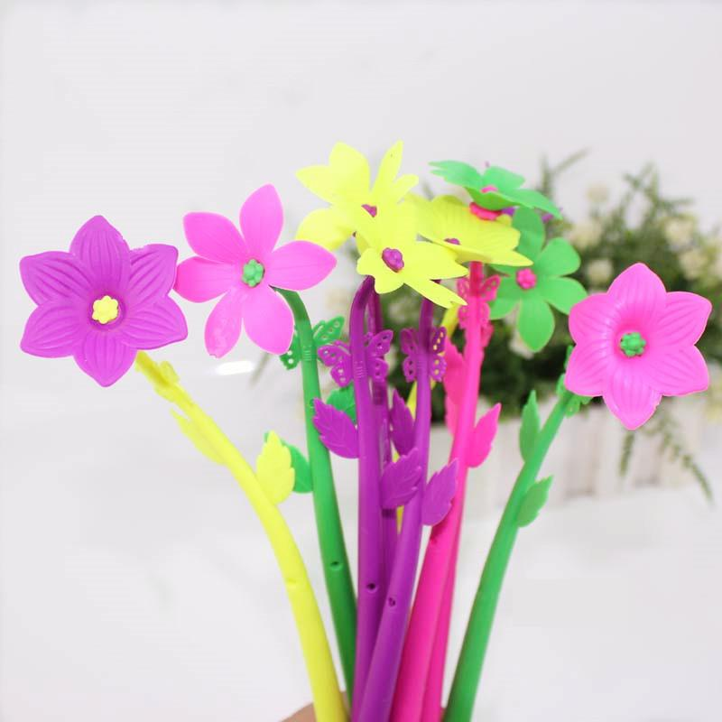 0.7mm Artificial Flowers Ballpoint Pen School Office Supply Gift Stationery Papelaria Escolar