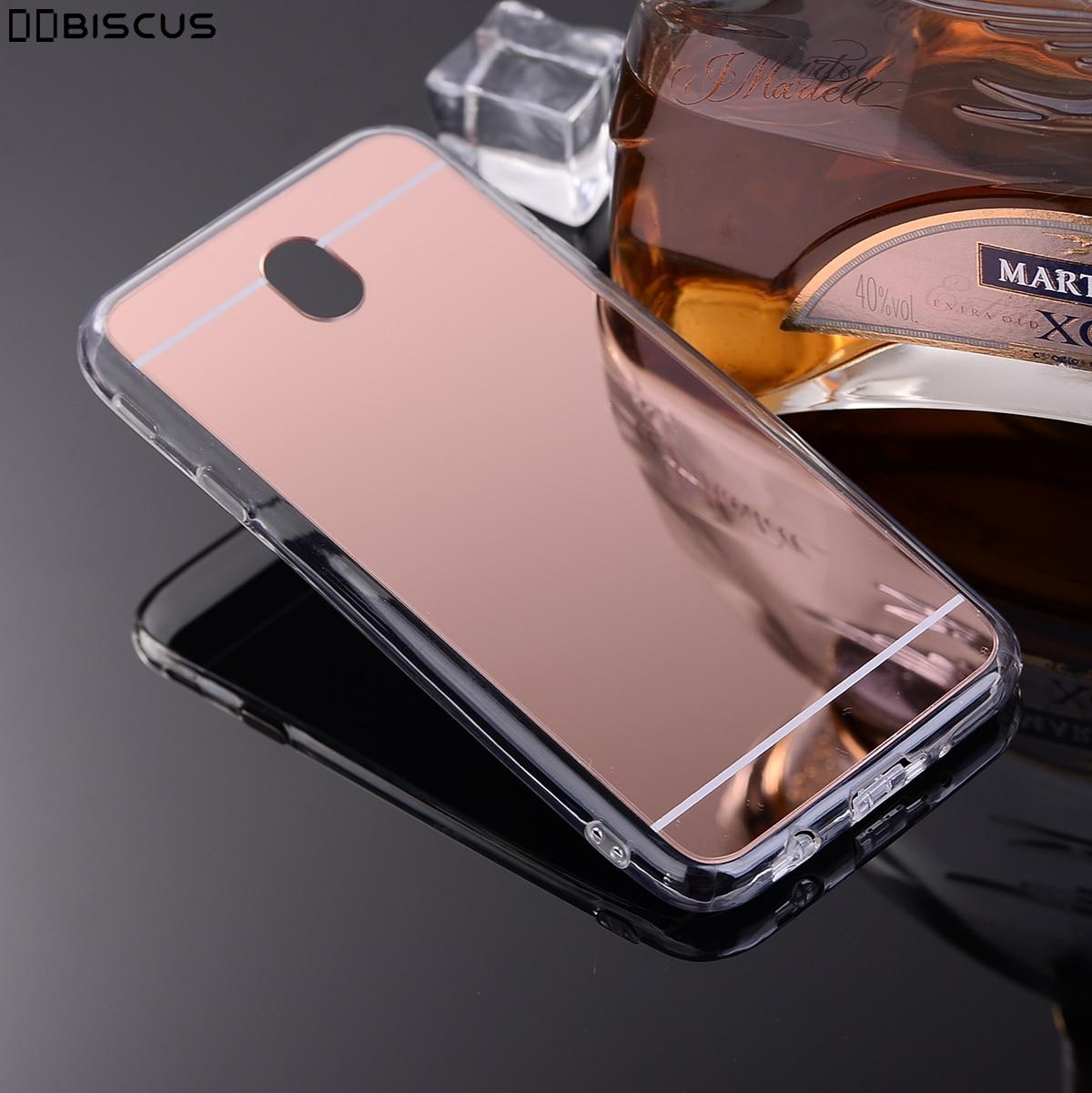 0f93f6f3867 De Lujo espejo suave TPU funda de silicona para Samsung Galaxy J7 2017 Pro  J730FM J730F