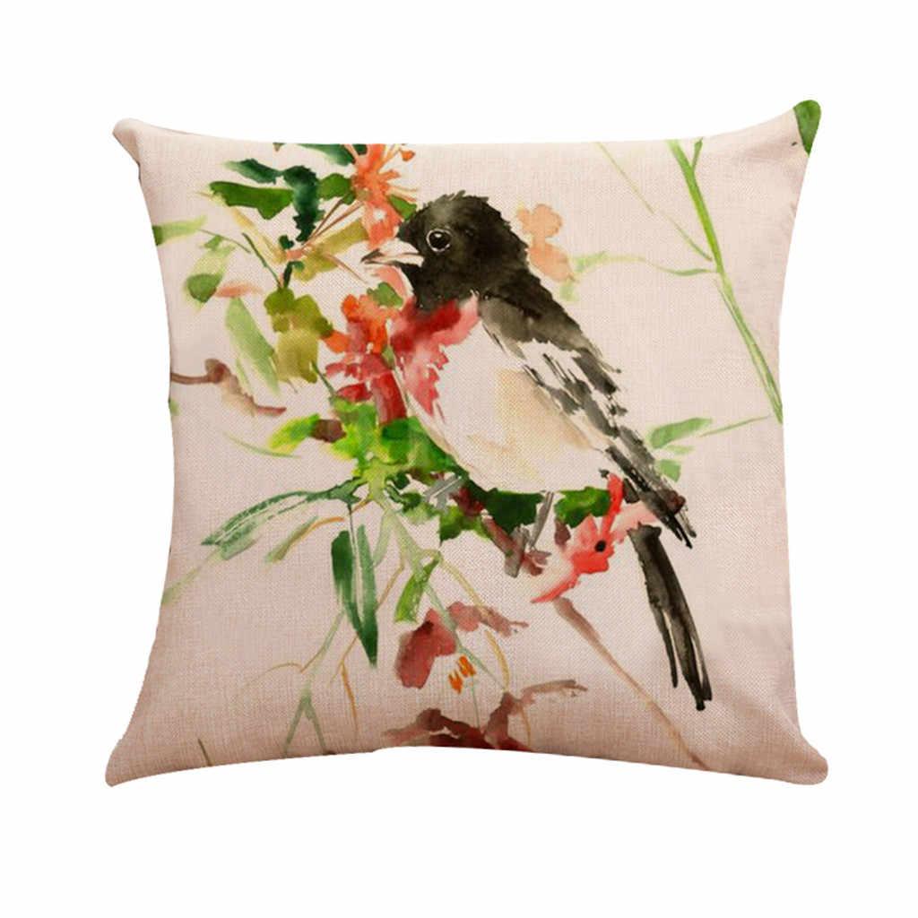 Хлопковая льняная Наволочка декоративная наволочка для диванная подушка для сидения 45x45 см домашний декор