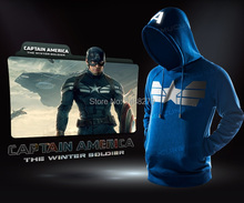2014 New Captain America The WINTER SOLDIER Mens Cotton Fleece Hoodie Hooded Sweater