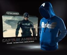2014 New Captain America The WINTER SOLDIER Men's Cotton Fleece Hoodie Hooded Sweater