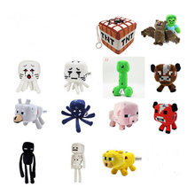 Minecraft Gevulde Knuffel Spel Pop Mooshroom Enderman Ocelot Zombie Pig Squid Archer Bat Wolf Kinderen Kid Gift(China)
