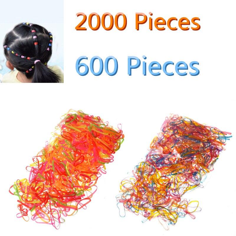 M MISM 600 шт. 2000 Одноразовые эластичные резинка для волос ободок для детей для девочек Аксессуары резинки для волос резинка для волос Резиновая лента для женщин