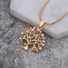 Стразы ожерелья Чокеры с подвеской в виде дерева жизни аксессуары