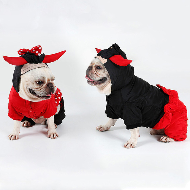 Christmas Pet Costumes.Us 8 66 48 Off Halloween Dog Clothes For Small Dogs Christmas Pet Clothes Bull Costumes Puppy Coats Jackets Clothing Party Pet Christmas Outfit In