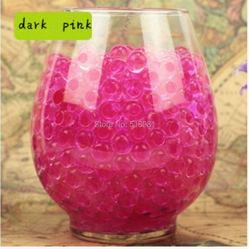 Jelly Ball Decor Gorgeous 10G Pearl Dark Pink Gel Ball Polymer Hydrogel Shaped Crystal Mud Design Inspiration