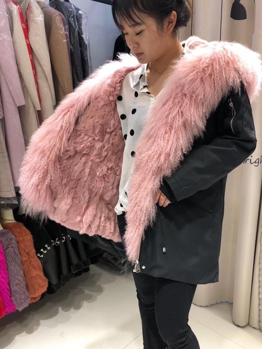 Parent-childs natural fur parkas with hood (32)