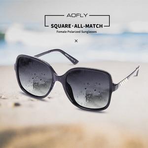 Image 2 - AOFLY Brand Design Elegant Sunglasses Women Oversized Frame Polarized Ladies Sun Glasses UV400 Eyewear Goggle Gafas De Sol A152