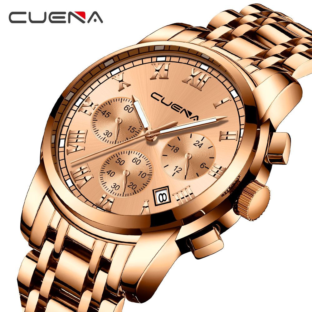 Brand New Luxury Man Watch 2018 Roman Digital Quartz Stainless Steel Wrist Watch Waterproof and Chronograph Sport Relojes Hombre burei men watch stainless steel sapphire glass quartz waterproof wristwatch chronograph analog man business watch relojes hombre