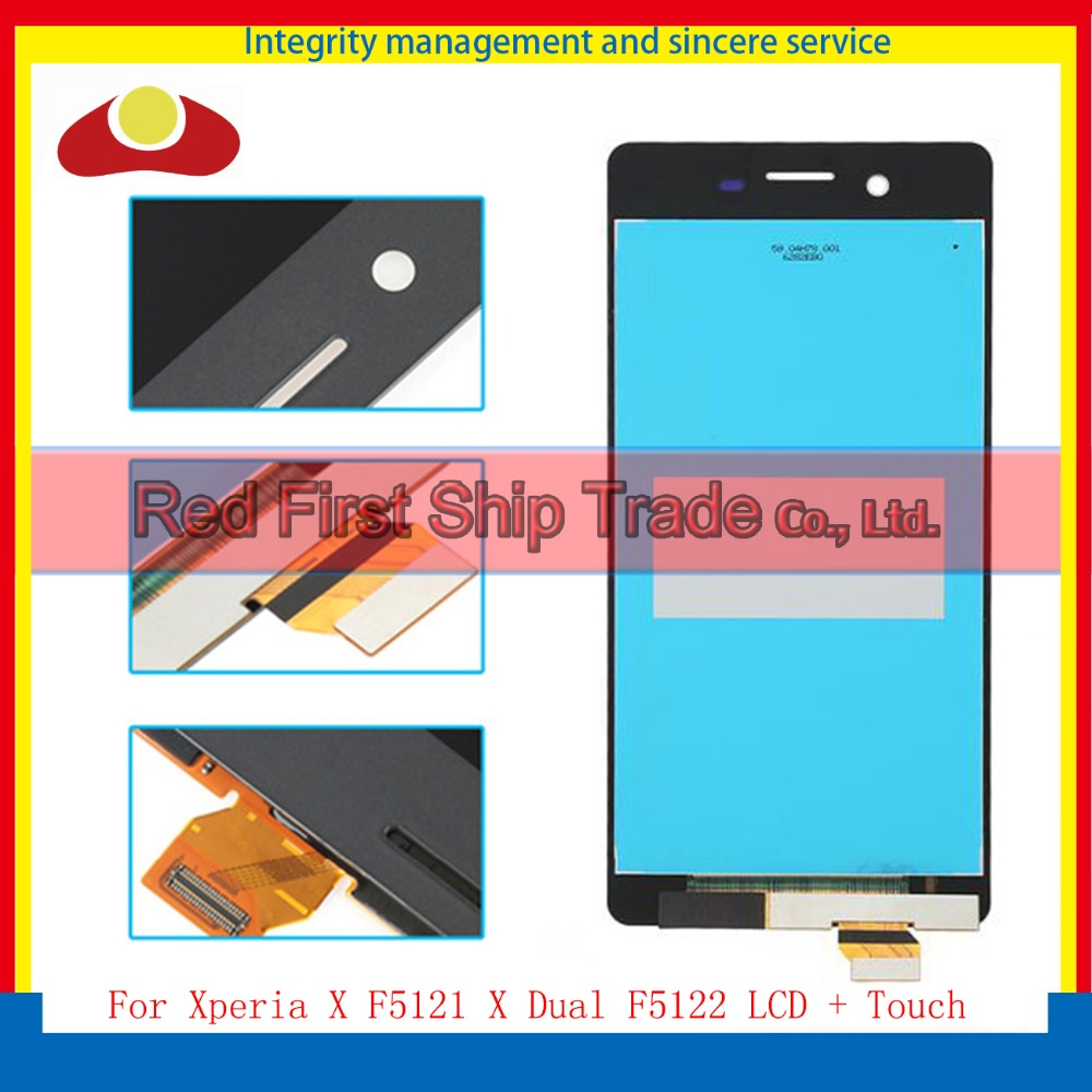 5.0 For Sony Xperia X F5121 X Dual F5122 Full Lcd Display Touch Screen Digitizer Sensor Assembly Complate Black White Gold Pink