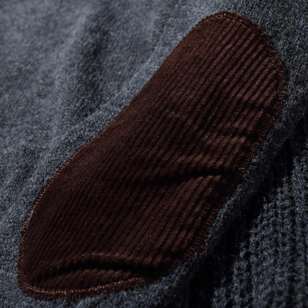 MRMT 2019 бренд мужской свитер локоть вельвет патч ретро сплошной цвет круглый вырез пуловер свитер для мужчин свитер