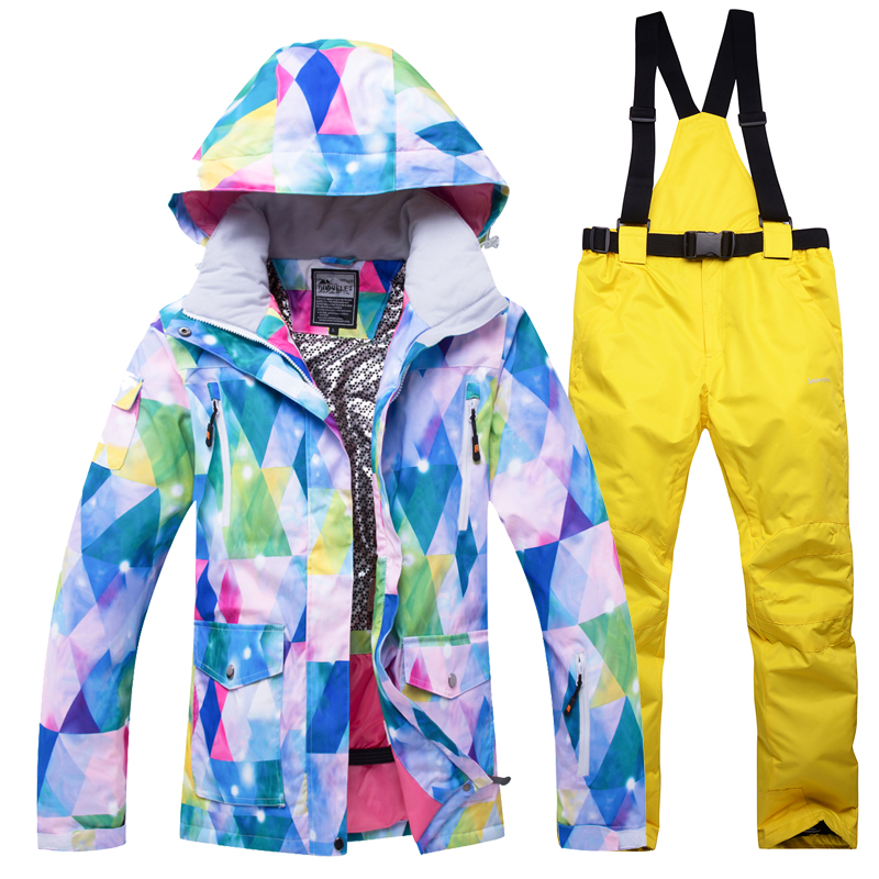 Snowboard costumes femmes ski en plein air ensemble coupe-vent imperméable à l'eau hiver femmes sports de plein air vestes - 4