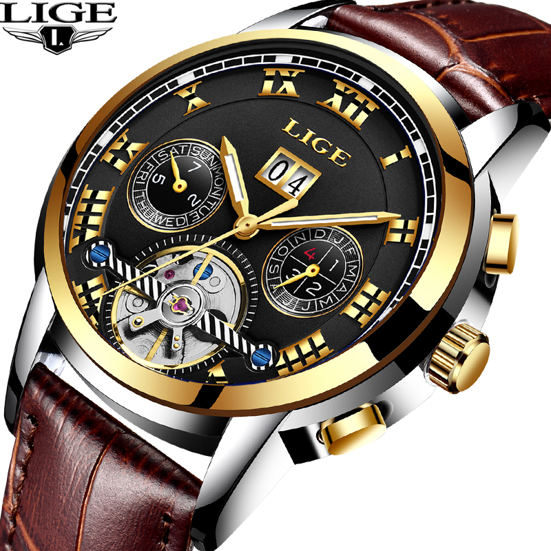 reloj hombre Men's Mechanical Watch Business Sport Waterproof Casual Fashion LIGE Men Watch Military Male Clock Top Luxury Brand lige men watch top luxury brand men s business mechanical watches casual fashion sports waterproof military male clock clearance