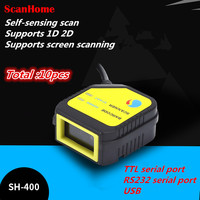 Total 10pcs Mini New wired Scan Module QR Scan Head Module Fixed Scan Engine USB/Serial TTLsupport scanning screen1D 2D code