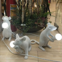 Modern creative personality mini mouse lamp children's bedroom bedroom bedside animal table lamp resin Table Lamps WL315547