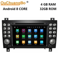 Ouchuangbo android 8.0 car dvd player for Benz SLK 171 2004 2011 with radio gps Bluetooth wifi USB AUX free map 8 core 4GB+32GB
