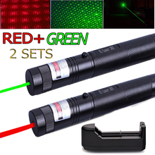 Green Laser Pointer Sight CNC Lasers Pointer Powerful device 10000m Adjustable Focus Lazer with Star Cap+Charger+18650 Battery цены онлайн