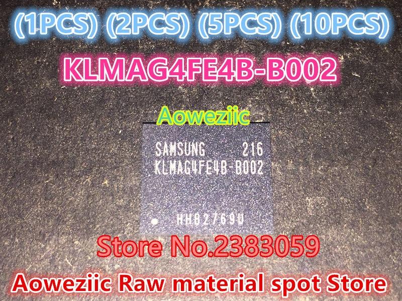 Aoweziic (1PCS) (2PCS) (5PCS) (10PCS) 100%  new original   KLMAG4FE4B-B002  BGA  Memory chip   KLMAG4FE4B B002 1pcs 2pcs 5pcs 10pcs 100