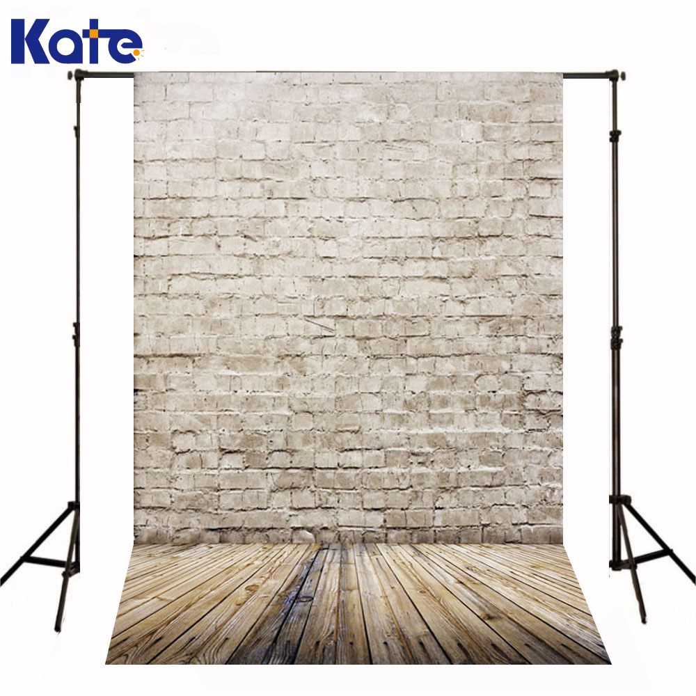 Kate Newborn Baby Backgrounds Fotografia White Brick Wall  Fundo Fotografico Madeira Wood Floor Backdrops For Photo Studio kate photography backdrops newborn baby black and white grid fondo navidad chess board backgrounds for photo studio