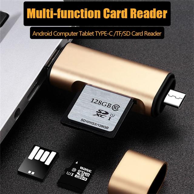 UTHAI C03 tipo-C micro USB USB3.0 3In1 lector de tarjetas de OTG de alta velocidad Universal TF/SD/V8 adaptador para PC Android encabezados de extensión