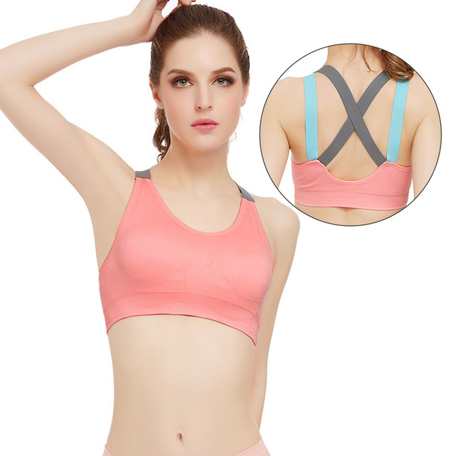 ecb004b5ea Fitness Yoga Push Up Sports Bra for Womens Gym Running Padded Tank Top  Athletic Vest Underwear